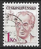 TCHECOSLOVAQUIE   -  1988.   Y&T N° 2751 Oblitéré.  Président Gustave Husak - Usados