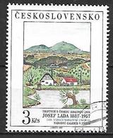 TCHECOSLOVAQUIE   -  1987.   Y&T N° 2746 Oblitéré.  Tableau De Josef Lada. - Usados