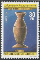 DJIBOUTI 1998 - Yvert N° ???  (Michel N° 661) Art Traditionnel (récipient Hedho) - Neuf** - 1er Choix (Lot 25) - Dschibuti (1977-...)