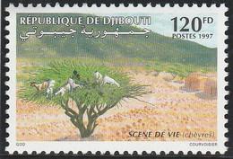 DJIBOUTI 1997 - Yvert N° 719 X  (Michel N° 643) Scène De Vie (chèvres) - Neuf** - 1er Choix (Lot 24) - Yibuti (1977-...)