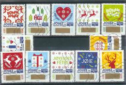 Superbe Série Adhésive Timbres à Gratter 2018 Oblitérée TTB - Adhesive Stamps