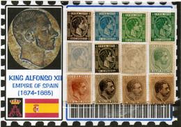 EUROPE:#SPAIN KINGDOM# KING ALPHONSE XII#CLASSIC#1874>(ESC-260LC-1) (01) - Nuevos