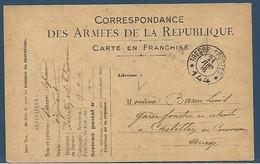 Guerre 14/18 : Tàd Trésor Et Postes Double Cercle 144 Le 21.6.1916 Sur CP FM Officielle Sans Drapeaux Modèle A1 - 1. Weltkrieg 1914-1918
