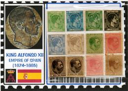 EUROPE:#SPAIN KINGDOM# KING ALPHONSE XII#CLASSIC#1874>(ESC-260LC-1) (02) - Nuevos