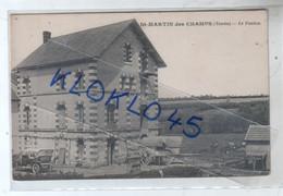 89 St Saint MARTIN Des CHAMPS ( Yonne ) Le Foulon  - Animé Voiture Tombereau Bâché - CPA L. Carroué Tabac Dos Vert - Other Municipalities