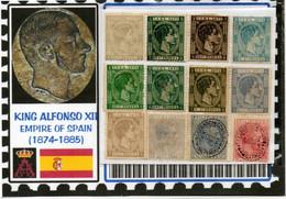 EUROPE:#SPAIN KINGDOM# KING ALPHONSE XII#CLASSIC#1874>(ESC-260LC-1) (04) - Nuevos