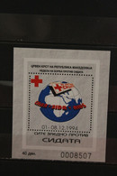 Mazedonien 1994, Block 12A, Rotes Kreuz, Woche Der Aidsbekämpfung, MNH - Red Cross