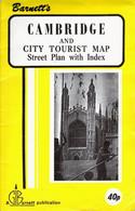 Cambridge Street Plan With Index 1980s - Roadmaps