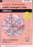 Oldham Lancashire Public Transport Map 2006 Bus & Railway - Roadmaps