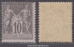 10c Sage Noir/Lilas Type II Neuf ** Sans Charnière SUPERBE (Y&T N° 89 , Cote  +90€) - 1876-1898 Sage (Tipo II)