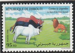 """DJIBOUTI 1996 - Yvert N° 719 K  (Michel N° 627) Contes & Légendes """"Le Lion Et Les Trois Bœufs"""" - Neuf** (Lot 18) - Yibuti (1977-...)"""
