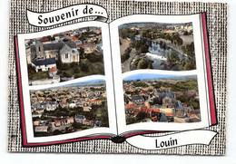 Louin - Multivues Souvenir De.. Livre Ouvert.  D79  CPSM - Other Municipalities
