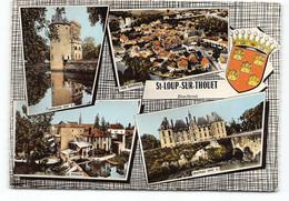St Loup Sur Thouet.  Saint.    Multivues Blason Edit Cim D79  CPSM - Other Municipalities