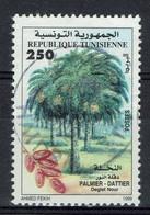 Tunisie, 250m, Palmier Dattier, Deglet Nour, 1999, Obl, TB - Tunesien (1956-...)
