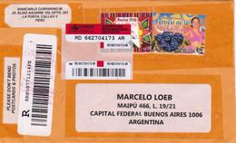 PERO. ENVELOPPE. CIRCULEE LA PUNTA A BUENOS AIRES, ARGENTINE. ANNEE 2011. RECOMMANDE.- LILHU - Peru
