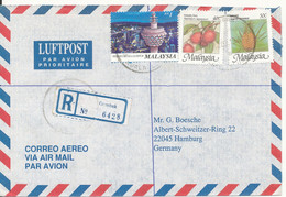 Malaysia Registered Air Mail Cover Sent To Germany Gombak 12-3-1998 - Malaysia (1964-...)