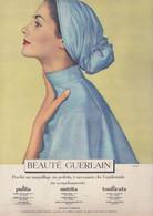 (pagine-pages)PUBBLICITA' BEAUTE' GUERLAIN  Epoca1954/190. - Other