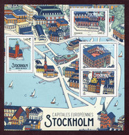 """BLOC-FEUILLET** De 2021 De 4 Timbres Gommés  """"Capitale Européenne : STOCKHOLM"""" - Nuevos"""