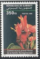 DJIBOUTI 1996 - Yvert N° 719 J  (Michel N° 625) Fleur Commicarpus Grandi Florus - Neuf** - 1er Choix (Lot 17) - Yibuti (1977-...)