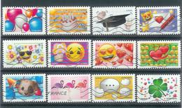 Superbe Série Adhésive Emoji 2018 Oblitérée TTB - Adhesive Stamps