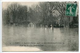 CPA 1910 * PARIS * Inondations   Crue De La Seine Janvier 1910 - Pont De Neuilly Lsland Club - Alluvioni Del 1910
