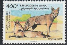DJIBOUTI 1994 - Yvert N° 719 C  (Michel N° 604) Chacal Commun - Neuf** - 1er Choix (Lot 11) - Yibuti (1977-...)