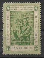 Portugal , 1958 , Cinderella , Vignette , Assistência Aos Tuberculosos , Tuberculosis , Socorro - Erinofilia