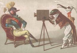 CHROMO A LA VILLE DE ROME A. AYMERICH PERPIGNAN LA PHOTO ANIMAUX EN COSTUME - Andere