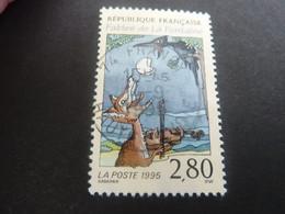 Jean De La Fontaine (1621-1695) Le Corbeau Et Le Renard - 2f.80 - Multicolore Sur Crème - Oblitéré - Année 1995 - - Oblitérés