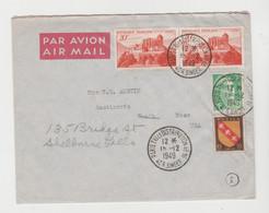 PARIS TRI & DISTRIBUTION N° 16 / LSC De 1949 Pour Les USA Rééxpédiée  Vers Poste Navale - 1921-1960: Periodo Moderno