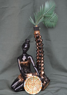 Rare Bouteille Liqueur De Collection Africaine Sous Palmier Garnier Enghien - Spirits
