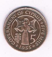 5 MILS 1955  CYPRUS /4118/ - Cyprus