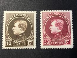1929.N°:289+291*.MH. Grand Montenez. Bien Centré! - 1929-1941 Gran Montenez