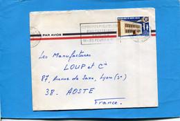 Marcophilie-haute Volta-Lettre  >Françe-cad -1969+flamme Expo  Philexafrique..stamps Thematic-N192central Téléphonique - Upper Volta (1958-1984)