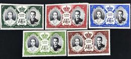 Monaco 1956, Poste, N° 473 à 477, Splendides, Neufs Sans Traces De Charnières - Ungebraucht