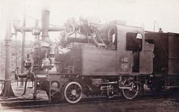 Transport Ferroviaire -  Carte Photo - Locomotive A Vapeur A Identifier - Trenes