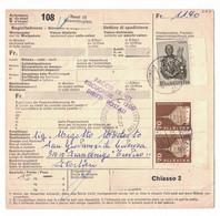 EW290    Begleitadresse Basel Neuweilerplatz - Frangenico (Treviso) Italien 1967 - Brieven En Documenten