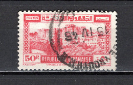 GRAND LIBAN  N° 196   OBLITERE COTE 5.25€   CITADELLE  MONUMENT - Used Stamps