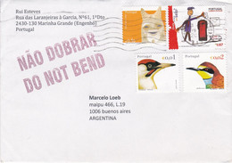 PORTUGAL. ENVELOPPE. CIRCULEE MARINHA GRANDE A BUENOS AIRES, ARGENTINE. ANNEE 2000.- LILHU - Covers & Documents