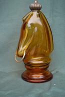 Rare Bouteille De Collection  Tête De Cheval Jaune - Spirits