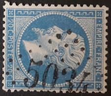22 Variétés Filets, Obl BFE BUREAU SUPPLEMENTAIRE GC 5034 Guelma (Constantine, Algérie ) Ind 11 - 1849-1876: Classic Period