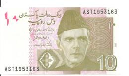PAKISTAN 10 RUPEES 2017 UNC P 45 L - Pakistan