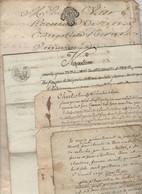 Loire 4 Papiers Saint Genis Terrenoire La Culas Saint Romain En Jarez 1747, An11 - Manoscritti