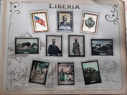 LIBERIA 10 PHOTOS ORIGINALES SUR LE PAYS ET L'HISTOIRE HOWARD DRAPEAUX VUE DE VILLES PAYSAGES COUTUMES 7 X 5 CM - Liberia