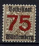 Mi. 271 X ** - Wurttemberg