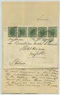 Bande De 5 N° 84 / Lettre 1906 De Radmannsdorf (Radovljica Slovénie Slovenja) Pour Naples. Comtesse Michel De Pierredon. - Cartas