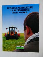 CR28 8 Pages Tracteur Agricole Renault 155-54 Turbo Tractor Trattori Traktor Publicité Brochure Prospectus Publicitaire - Agriculture