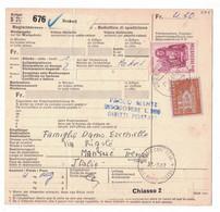 EW293    Begleitadresse Zuchwil - Mansuè (Treviso) Italien 1967 - Brieven En Documenten