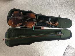 Boîte +Violon + Archet à Restaurer (trouvé Grenier), DRGM - Musical Instruments