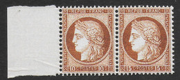 FRANCE 1871 YT ERREUR 55c** - 10c ET15c SE TENANT - COPIE/FAUX - 1871-1875 Ceres
